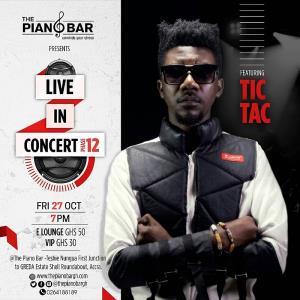 Tic Tac Live In Concert On October 27