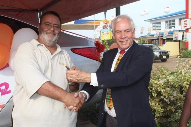 Shop n Save shopping mall rewards customer with a car