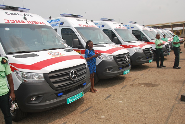 Outdooring of ambulance sparks jubilation at Obuasi East
