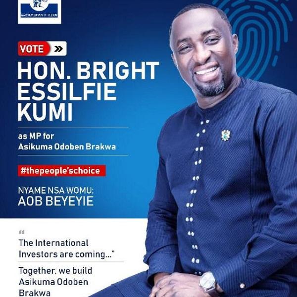 Bright Kumi is a winning candidate - Asikuma Odoben Brakwa delegates