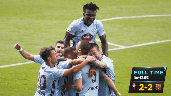 Joseph Aidoo shines as Celta Vigo dents Barca's title hopes