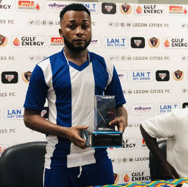 Great Olympics talisman Gladson Awako wins Man of the Match in Legon Cities win